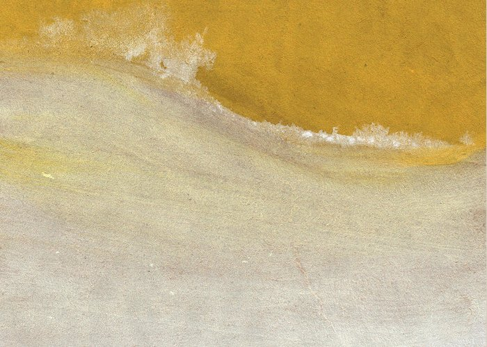Abstract Greeting Card featuring the painting Warm Sun by Linda Woods