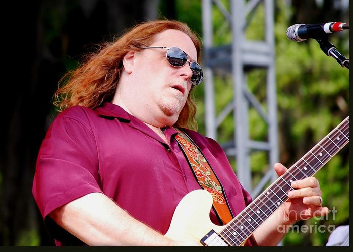 Music Greeting Card featuring the photograph Warren Haynes by Angela Murray