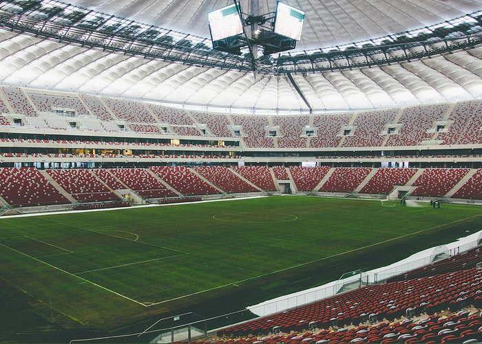 Poland Greeting Card featuring the photograph Warsaw Stadion by Pati Photography