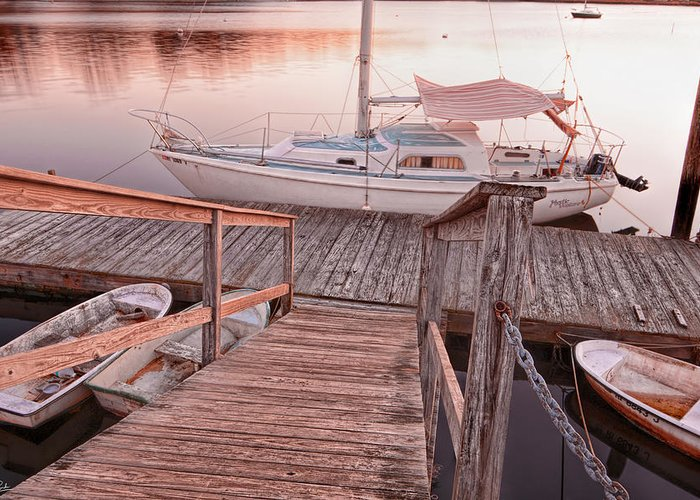 Warwick Greeting Card featuring the photograph Warwick Marina Park by Lourry Legarde