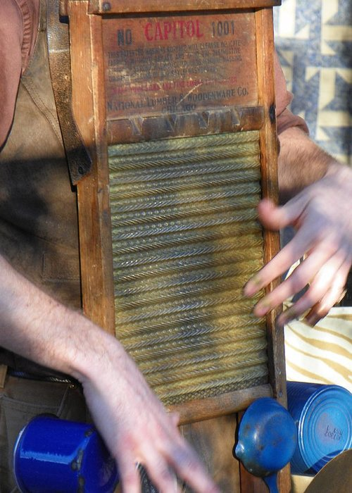 Washboard Greeting Card featuring the photograph Washboard by Bernie Smolnik