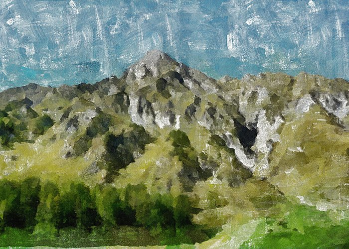 Valley Greeting Card featuring the painting Washed Out by Ayse Deniz