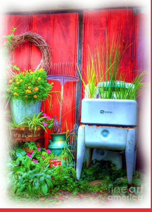Washing Machines Greeting Card featuring the photograph Washing Machine Art by Mel Steinhauer