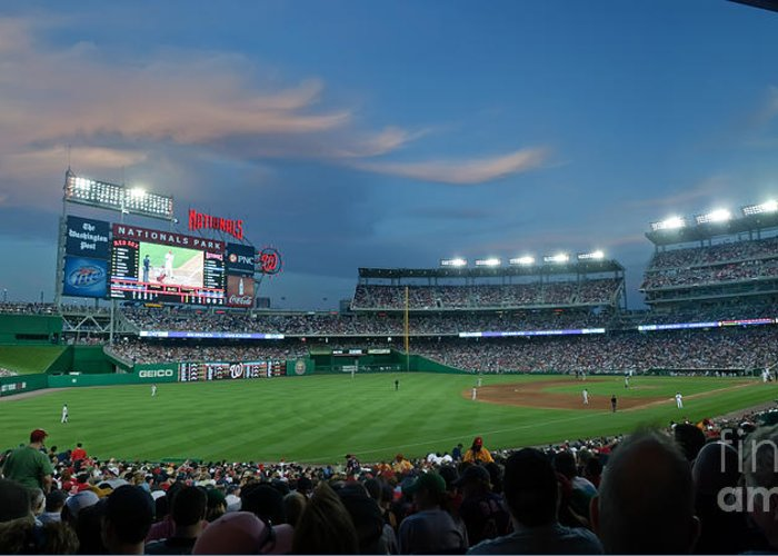 Red Sox Greeting Card featuring the photograph Washington Nationals In Our Nations Capitol by Thomas Marchessault