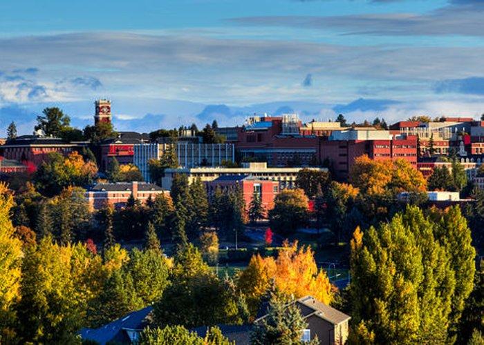 Washington State University In Autumn Greeting Card featuring the photograph Washington State University In Autumn by David Patterson