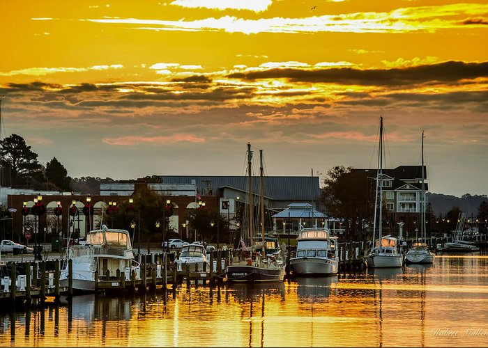 Harbor Greeting Card featuring the photograph Washington Waterfront by Robert Mullen