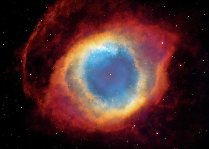Universe Greeting Card featuring the photograph Watching - Helix Nebula by Jennifer Rondinelli Reilly - Fine Art Photography