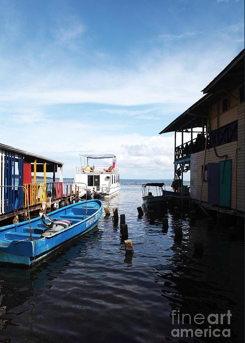 Water Alley In Bocas Town Greeting Card featuring the photograph Water Alley In Bocas Town by John Rizzuto