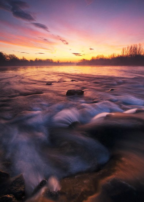 Landscape Photography Greeting Card featuring the photograph Water Claw by Davorin Mance