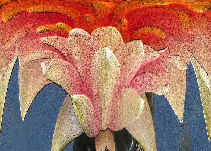 Lily Greeting Card featuring the digital art Water Lily Unleashed 3 by Tim Allen