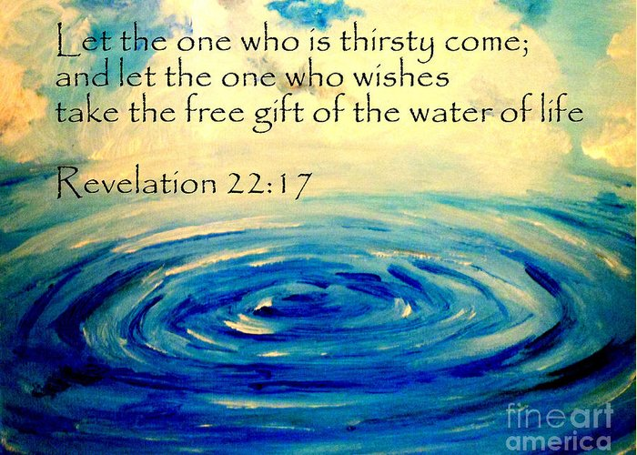 Water Of Life Greeting Card featuring the painting Water Of Life by Amanda Dinan