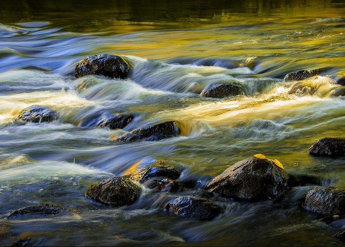 Art Greeting Card featuring the photograph Beautiful Water Reflections On The Flowing Thornapple River by Randall Nyhof