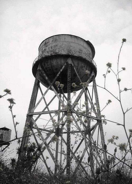 Watertower Greeting Card featuring the photograph Water Tower by Michael Grubb