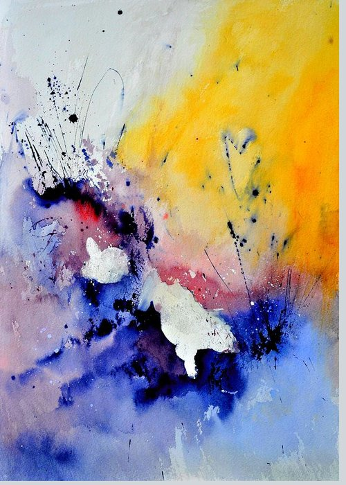 Abstract Greeting Card featuring the painting Watercolor 4541902 by Pol Ledent