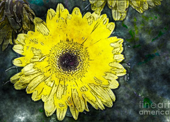 Daisy Greeting Card featuring the photograph Watercolor Daisy by Fred Ziegler