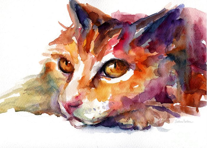 Colorful Cat Greeting Cards