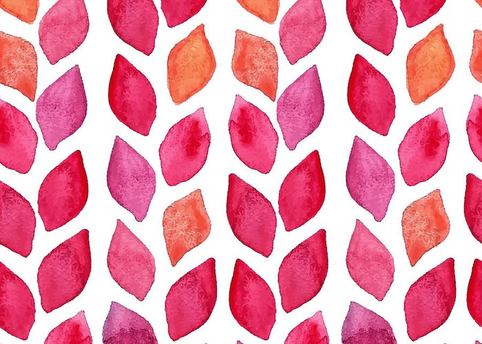 Pink Greeting Card featuring the digital art Watercolor Seamless Pattern. Colorful by Ajgul