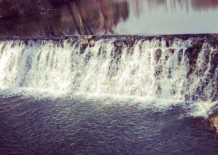 Beautiful Greeting Card featuring the photograph #waterfall #newyork #water #nature by Amber Campanaro