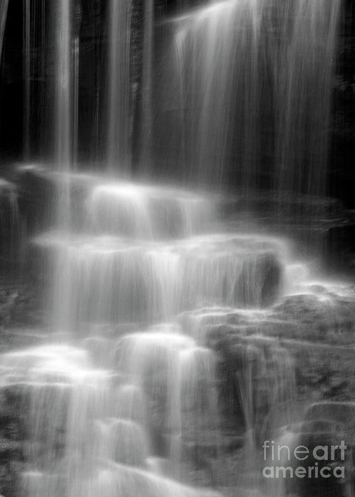 Waterfall Greeting Card featuring the photograph Waterfall by Tony Cordoza