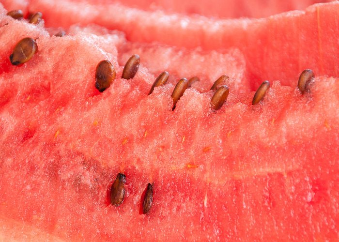 Watermelon Greeting Card featuring the photograph Watermelon Background by Luis Alvarenga