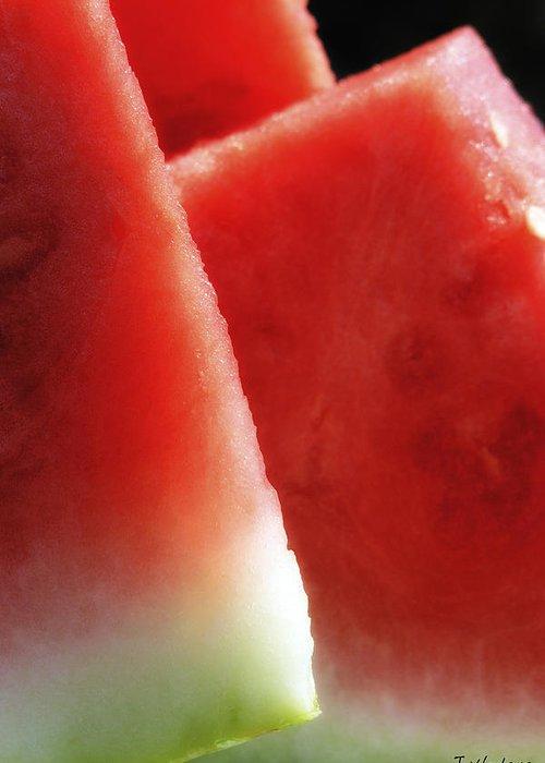 Watermelon Greeting Card featuring the photograph Watermelon Heaven by Joseph Hedaya