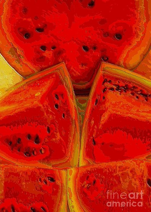 Watermelon Greeting Card featuring the photograph Watermelon Wow by Annette Allman
