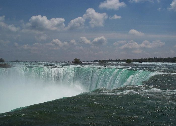 Horseshoe Falls Greeting Card featuring the photograph Water's Edge by Barbara McDevitt