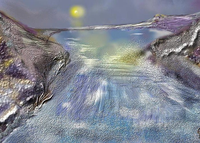 Water.rapides Greeting Card featuring the digital art Waterway Rush by Gregory Steward