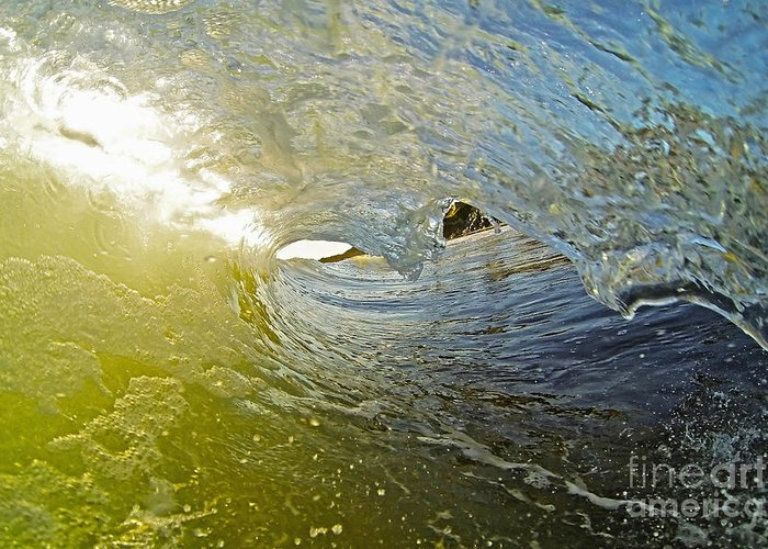 Santa Cruz Greeting Card featuring the photograph Wave Cave by Paul Topp