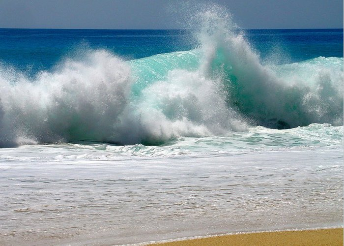 Water Greeting Card featuring the photograph Wave by Karon Melillo DeVega
