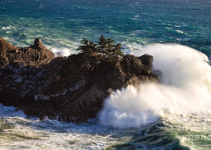 Big Sur Greeting Card featuring the photograph Wave Power II by Stuart Gordon