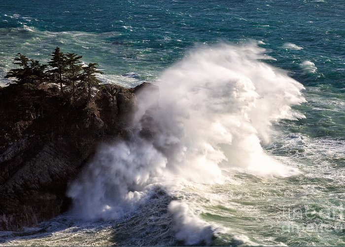 Big Sur Greeting Card featuring the photograph Wave Power by Stuart Gordon