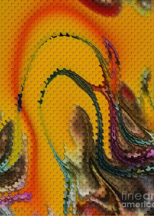 Waves Of Music Greeting Card featuring the digital art Waves Of Music by Liane Wright
