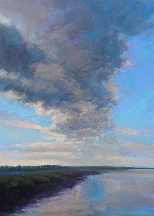 Clouds Greeting Card featuring the painting Wayward by Ed Chesnovitch
