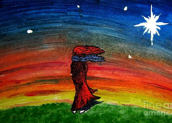 Stars Greeting Card featuring the painting We Are All Made Of Stars by Elizabeth Garton