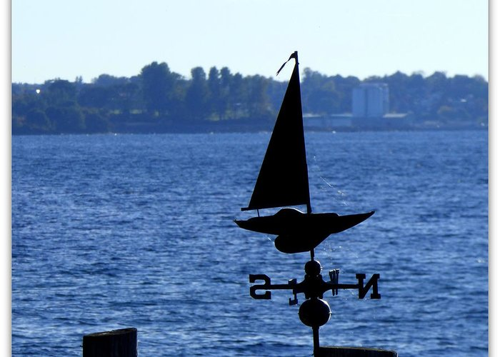 Landscape Greeting Card featuring the photograph Weather Vane by Rennae Christman