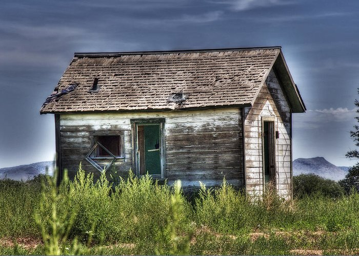 House Greeting Card featuring the photograph Weathered And Worn Well by Saija Lehtonen