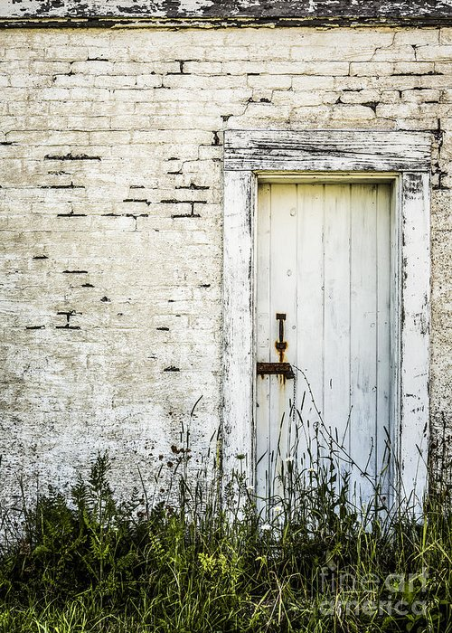 Rustic Greeting Card featuring the photograph Weathered Door by Diane Diederich