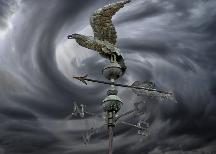Navigation Greeting Card featuring the photograph Weathervane by Steven Michael