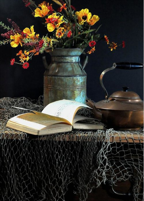 Still Life Greeting Card featuring the photograph Week Days by Diana Angstadt