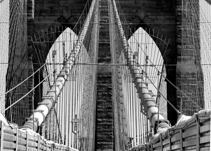 Brooklyn Bridge Greeting Card featuring the photograph Welcome by Mark Szep