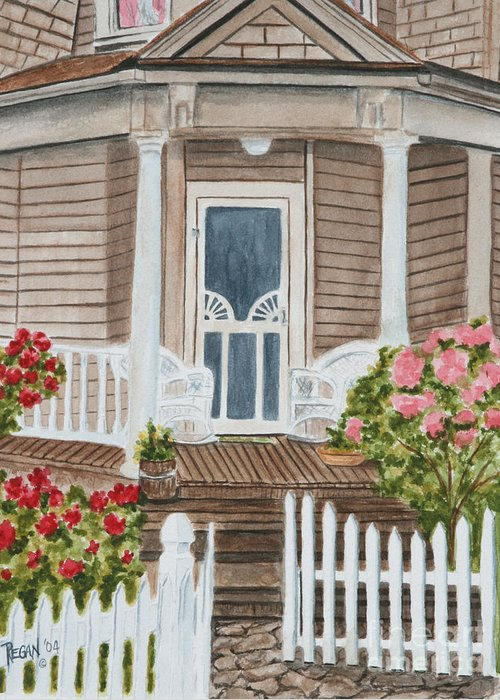 Architecture Greeting Card featuring the painting Welcome by Regan J Smith