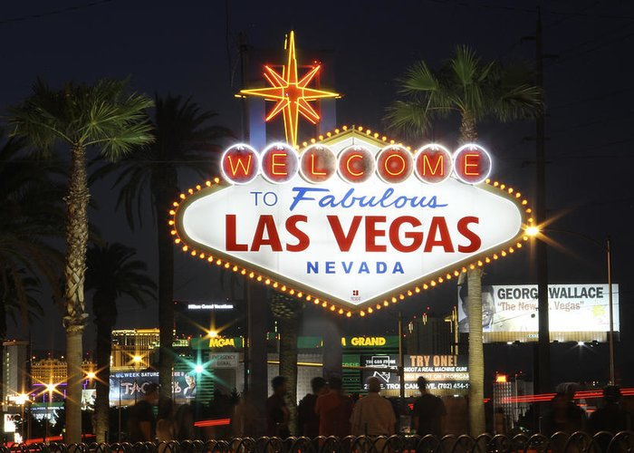 Welcome To Las Vegas Greeting Card featuring the photograph Welcome To Las Vegas by Mike McGlothlen
