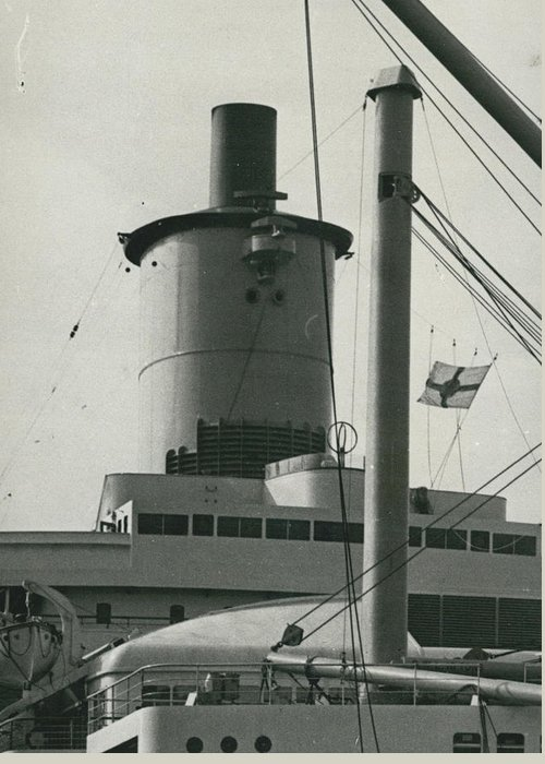 retro Images Archive Greeting Card featuring the photograph �welsh Bonnet� Funnel For New Liner by Retro Images Archive