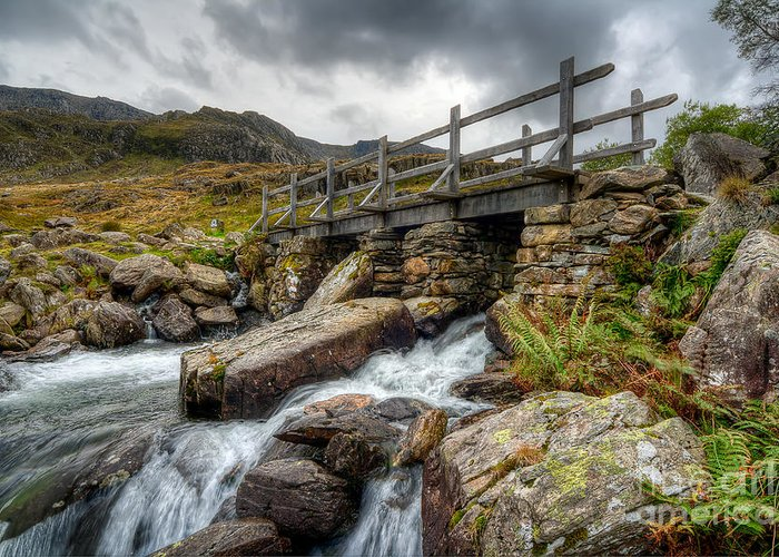 Bridge Greeting Card featuring the photograph Welsh Bridge by Adrian Evans