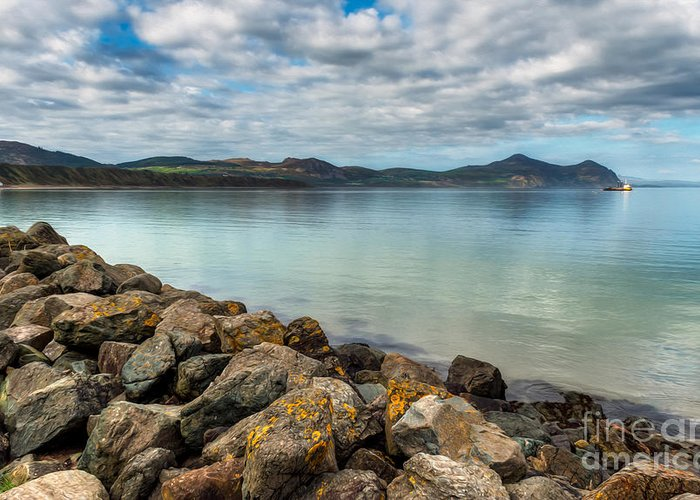 Hdr Greeting Card featuring the photograph Welsh Coast by Adrian Evans