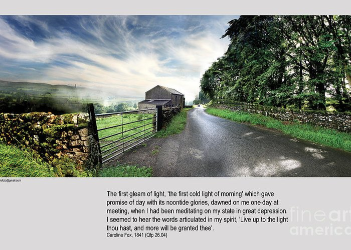 Wensleydale Greeting Card featuring the photograph Wensleydale Road by Mike Hoyle