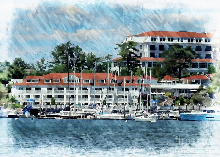 Landmark Greeting Card featuring the photograph Wentworth By The Sea by Marcia Lee Jones
