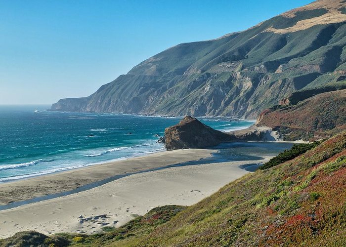 Beach Greeting Card featuring the photograph West Coast Serenity by Rob Wilson