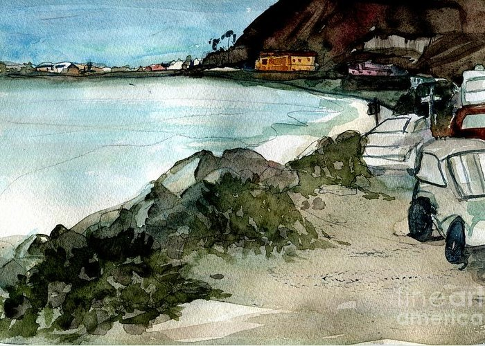 Rincon Greeting Card featuring the painting West Of Emma Wood by Sandra Stone